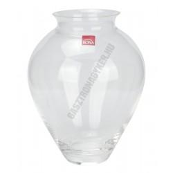 Váza 22 cm, üveg, hasas