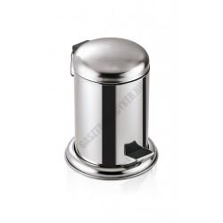 Pedálos szemetes kivehető műanyag vödörrel, 5 l, 25x32 cm