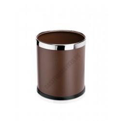 Papír szemetes, 22x25 cm, acél, barna