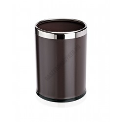 Papír szemetes, 22x31,5 cm, acél, barna