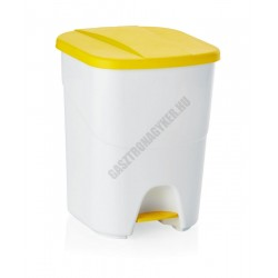 Pedálos szemetes, 25 l, polipropilén, sárga tető