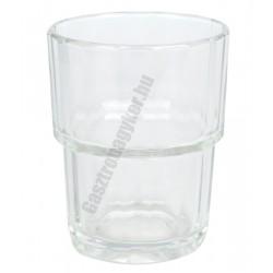 Norvege vizespohár 160 ml, üveg, szilánkmentes törés