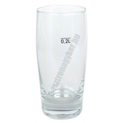 Willy söröspohár 200 ml jeles, üveg
