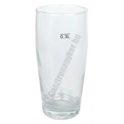 Willy söröspohár 300 ml jeles, üveg