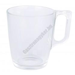 Bögre 250 ml temperált üveg