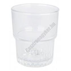 Empilable vizespohár 160 ml temperált üveg, sorolható
