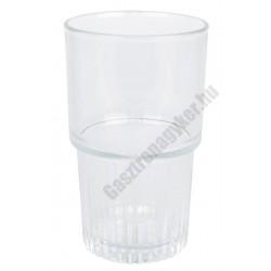 Empilable vizespohár 340 ml temperált üveg, sorolható