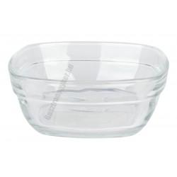 LYS tálka 300 ml 11 cm sorolható szögletes üveg