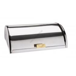 GN 1/1 Roll-Top fedő sárgaréz fogóval, rozsdamentes