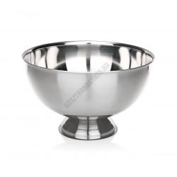 Pezsgősvödör, talpas, 10 l, lakkozott ezüst, rozsdamentes