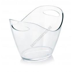 Pezsgősvödör, ovális, 3 l, átlátszó, műanyag