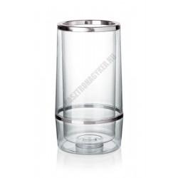 Duplafalú palackhűtő, 23x11,5 cm, műanyag
