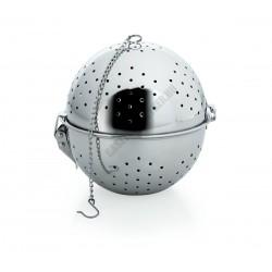 Fűszerlabda, rizsfőző golyó, 14 cm, rozsdamentes