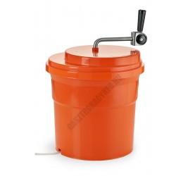 Salátacentrifuga, 27 liter, narancssárga, műanyag