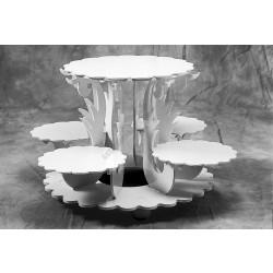 Tortaállvány, 5 részes, Flora, 70x42 cm