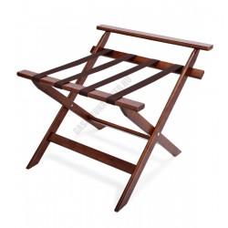 Bőröndtartó falvédővel, 60x59x52 cm, összecsukható, fa