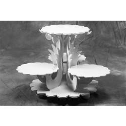 Tortaállvány, 4 részes, Flora, 40x45 cm