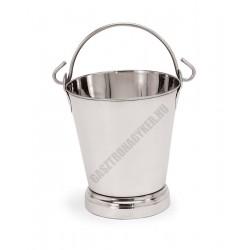 Vödör, 10 liter, talpas, 28x31 cm, rozsdmentes