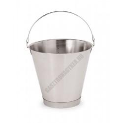 Mércés vödör, 10 liter, talpas, 29x27 cm, rozsdamentes