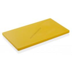 Vágólap, 60x40x2 cm, sárga, 6 gumitalpacskával