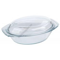 Simax Hőálló jénai sütőtál fedővel ovális 2,4 liter