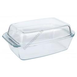 Simax Hőálló jénai sütőtál fedővel 2,8 liter szögletes