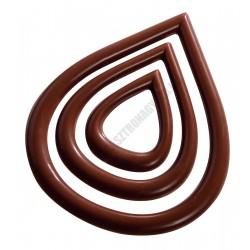 Díszítő csokoládéforma (20-D023), 6x3 adag, polikarbonát