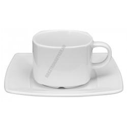 Victoria teáscsésze+alj 0,19 liter szögletes