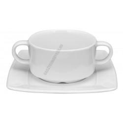Victoria levescsésze+alj 0,32 liter szögletes, porcelán