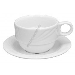 Arcadia teáscsésze és alj, 0,22 liter, porcelán