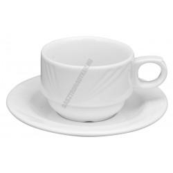 Arcadia cappuccino csésze+alj, porcelán 0,15 liter
