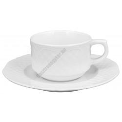 Afrodyta teacsésze+alj 1,9 dl porcelán