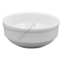 X-TANBUL salátás tál 12 cm 0,35 liter sorolható, fehér porcelán