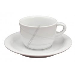 X-TANBUL Mokkacsésze+alj, 0,09 l, fehér porcelán