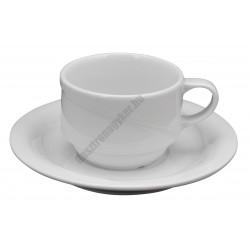 X-Tanbul cappuccino csésze+alj, 0,17 l, fehér porcelán