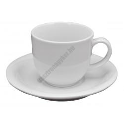X-TANBUL Mokkacsésze+alj, 0,1 l, fehér porcelán