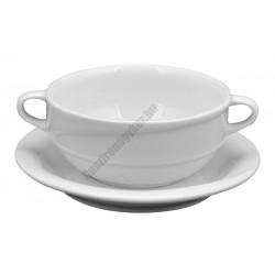 X-Tanbul levescsésze+alj, 0,3 l, fehér porcelán