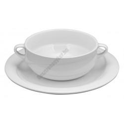 X-TANBUL Levescsésze+alj, 0,38 l, fehér porcelán