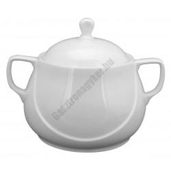 X-Tanbul leveses tál fedővel, 3,2L, fehér porcelán