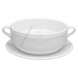 Saturn levescsésze aljjal 0,38 liter porcelán