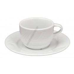 Karizma kávéscsésze+alj 0,09, porcelán