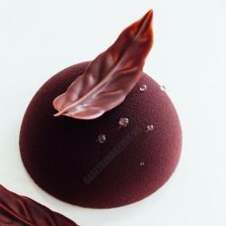 Csokoládédísz készítő fésű, szirom levél, 6 cm, rozsdamentes
