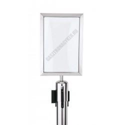 Információs tábla, króm, 21,5x0,5x30,5 cm, Ecoflex