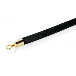 Kordonkötél, fekete, arany színű akasztóval, 150x2,8 cm