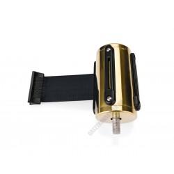 Szalagkazetta, arany színű, 2 m fekete szalag, Highflex