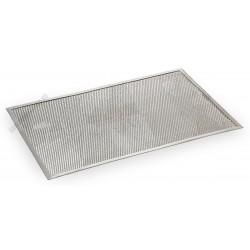 Pizzasütő, 60x40 cm, perforált, szögletes, alumínium