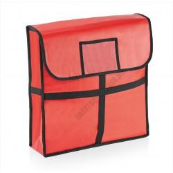 Pizzaszállító táska, 46x46x11 cm, alumínium bélés