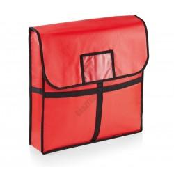 Pizzaszállító táska, 51x51x11 cm, alumínium bélés