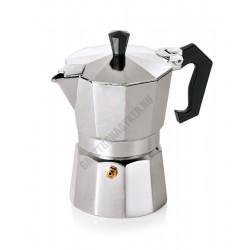 Espresso kávéfőző, 300 ml, 10x19 cm, alumínium