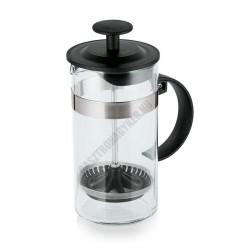 French press kávé- és teafőző, 0,35 liter, 7x16 cm, fekete